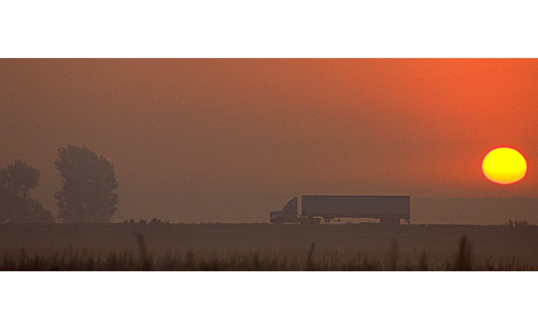 Semi-truck-sunrise
